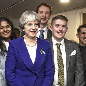 Joe Porter with Theresa May